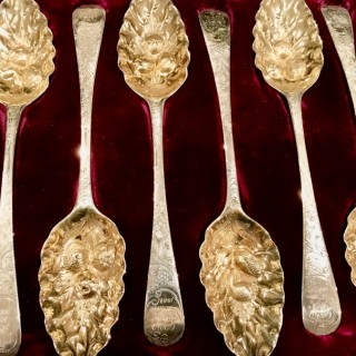 Six Large Berry Spoons