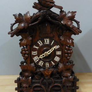 19th Century Black Forest Fusee Cuckoo Mantel Clock by Beha