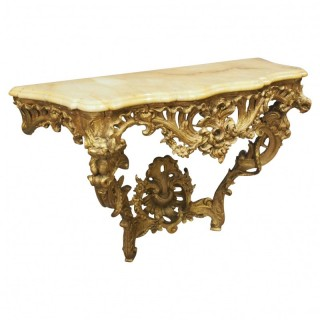 George III Gilded Wood and Marble Console Table