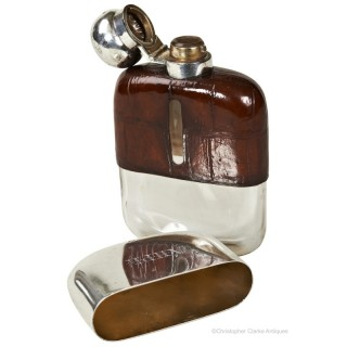 Silver Hip Flask by Dixon
