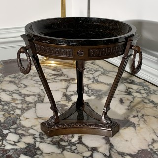 Finely Cast 19th Century Patinated Bronze And Serpentine Marble Grand Tour Athenienne