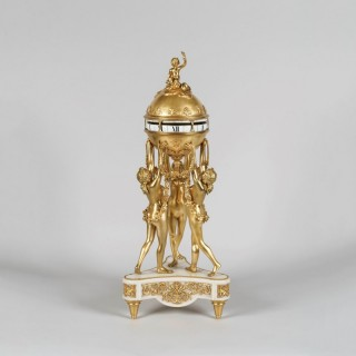 An Ormolu and Marble Mantle Clock of the Three Graces