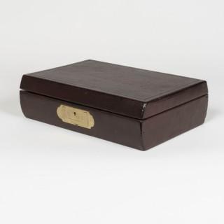 A Burgundy Leather Bound Writing Box