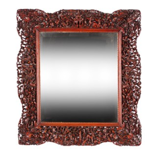 Chinese Red Cedar Framed Mirror