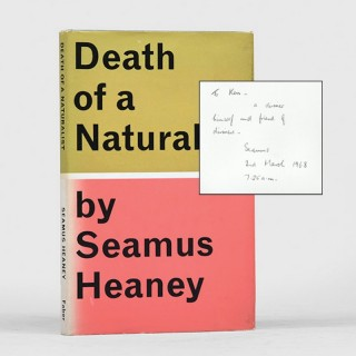 Death of a Naturalist. Inscribed to the Director of the Arts Council of Northern Ireland.
