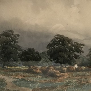 Pair of Large Nineteenth Century Watercolours
