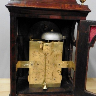 George III Mahogany Bell Top Bracket Clock With Verge Escapement By H.Thomas, London