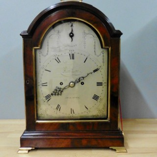 Georgian Mahogany Bracket Clock with Verge Escapement by Joseph Quartermaine, Aylesbury