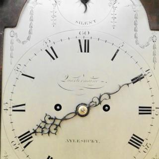 Georgian Mahogany Bracket Clock with Verge Escapement by Joseph Quartermaine, Aylesbury
