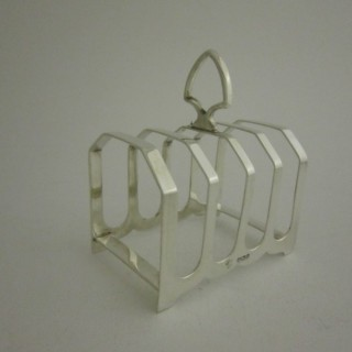 Antique Sterling silver four sectioned toast rack