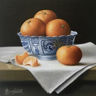Chinese Bowl With Clementines