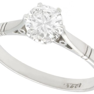 0.67 ct Diamond and Platinum Solitaire Ring - Antique Circa 1930