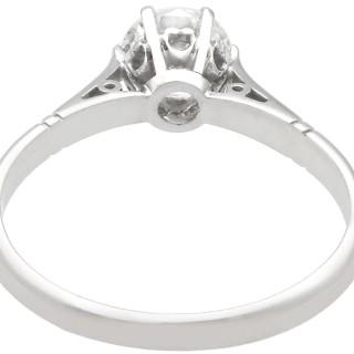 0.67 ct Diamond and Platinum Solitaire Ring - Antique Circa 1930