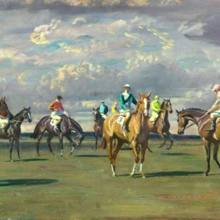 Sir Alfred James Munnings - Newmarket