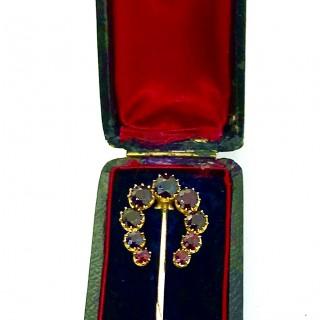 Nineteenth Century Large Garnet Stick Pin