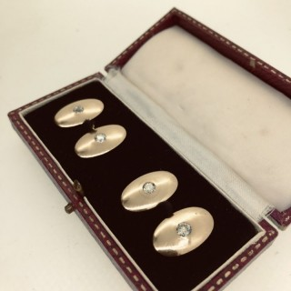 Gold and Diamond Cufflinks