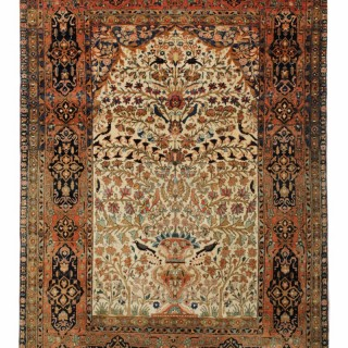 Antique Persian Kashan Rug 192x107cm