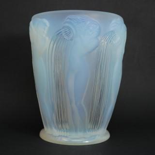 Rene Lalique Opalescent Glass Danaides Vase