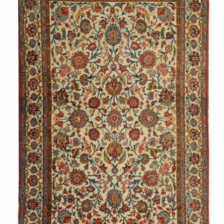 19th Century  Persian Kashan Rug 130x211cm