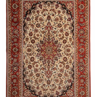 Antique Persian Isfahan Area Rug 210x333cm