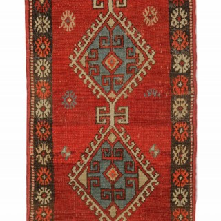 Antique Turkish Anatolian Rug Carpet 93x48cm