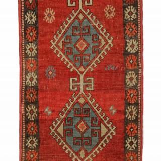 Antique Turkish Anatolian Rug Carpet 93x48cm