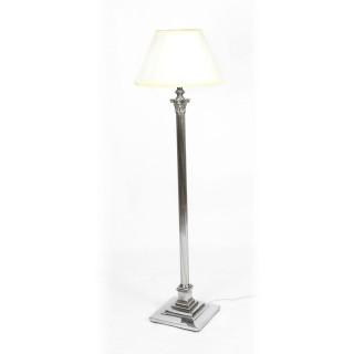 Antique Silver Plated Corinthian Column Telescopic Standard Lamp 19th C