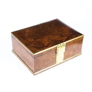 Antique Victorian Aspreys Burr Walnut Casket Jewellery Box 19th C