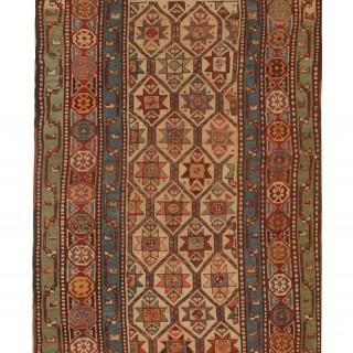 Antique Shirvan Rug- Caucasian Wool Area Rug 113x222cm