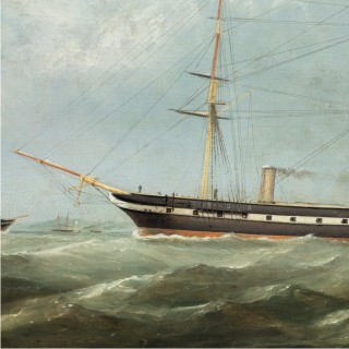 H.M.S. Topaze by George Mears