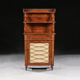 Fine Regency Brass Inlaid Rosewood Chiffonier Of Narrow Proportions