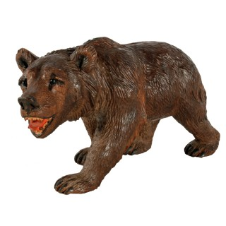 Swiss Carved Wood Black Forest Bear