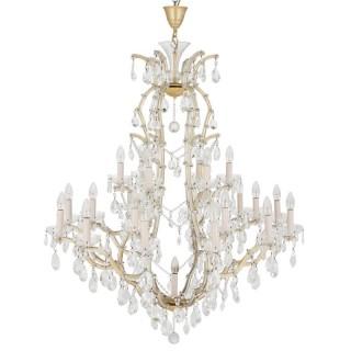 Bohemian chandelier with cut glass pendants