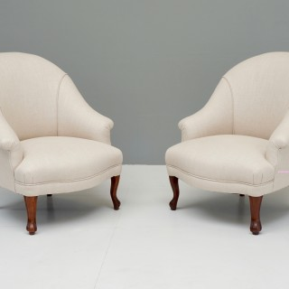 Pair of Reupholstered Armchairs