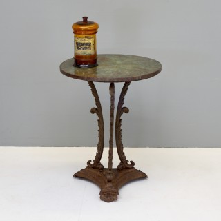 Cast Iron Table with Copper Top