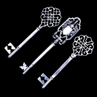 Three arts and  crafts  Birmingham Guild silver ceremonial keys