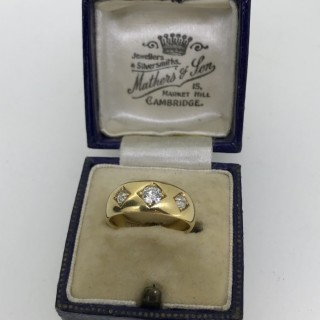 Victorian 18ct Gold Gypsey Ring