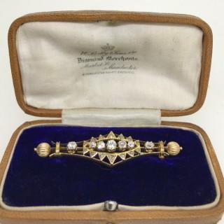 Etruscan Style Diamond Brooch