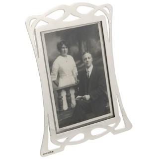 Sterling Silver Photograph Frame - Art Nouveau - Antique Edwardian (1903)