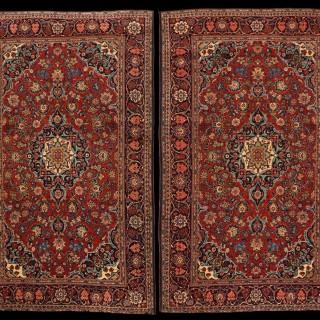 Fine pair of Keshan Rugs