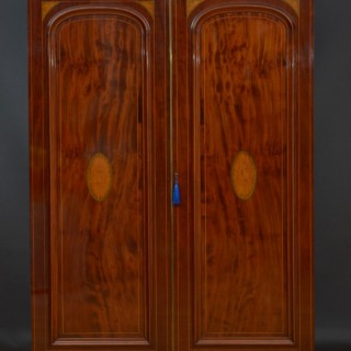 Victorian Mahogany Two Door Wardrobe