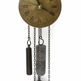 Hook and spike wall clock