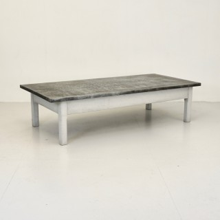 Large Zinc Topped Coffee Table