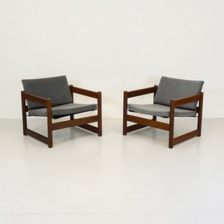Pair of Campus Armchairs by Lupton Morton