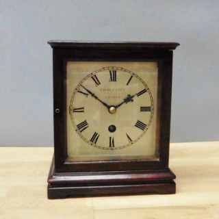 Miniature Mahogany Library Clock, Thornhill, London