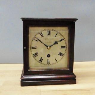 Miniature Mahogany Library Clock, Thornhill, London