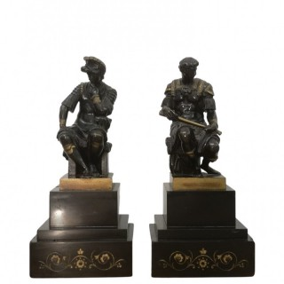 PAIR OF 19TH CENTURY GRAND TOUR BRONZES