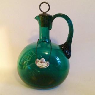 Georgian Green Glass Flask