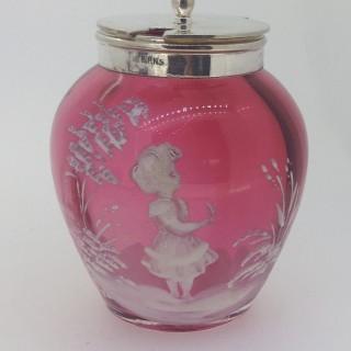 Victorian Glass Pot