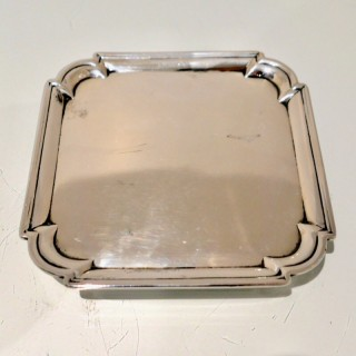 Antique George II Sterling Silver Salver London 1728 John Tuite